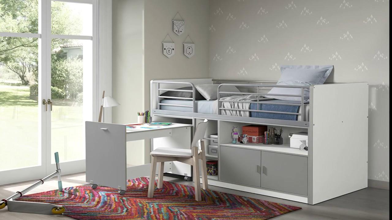 lit pour enfant clyde avec bureau integre square deco