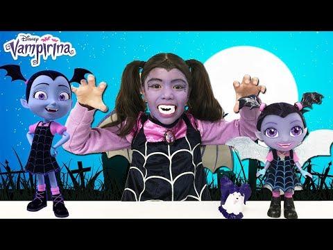 VAMPIRINA Makeup 💄  Talking Vampirina Doll Disney Jr Vampirina Toys