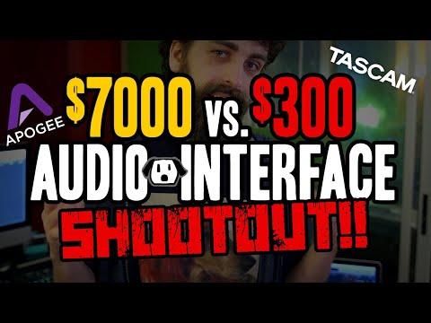 $7000 Apogee VS. $300 Tascam Audio Recording Interface Shootout