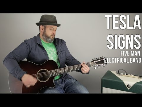 """How to Play """"Signs"""" by Tesla (Five Man Electrical Band) Easy Acoustic"""