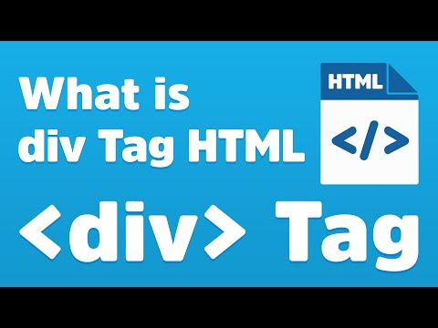 Div Tag - How To Use Div Tag In HTML