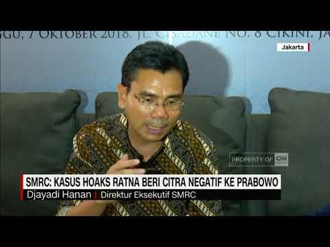 SMRC: Kasus Hoax Ratna Beri Citra Negatif ke Prabowo