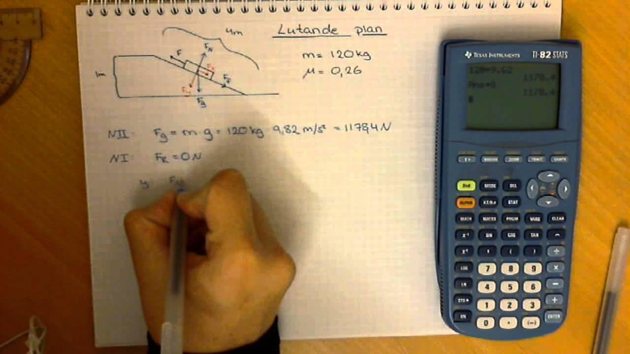 Fysik 1 - Lutande plan