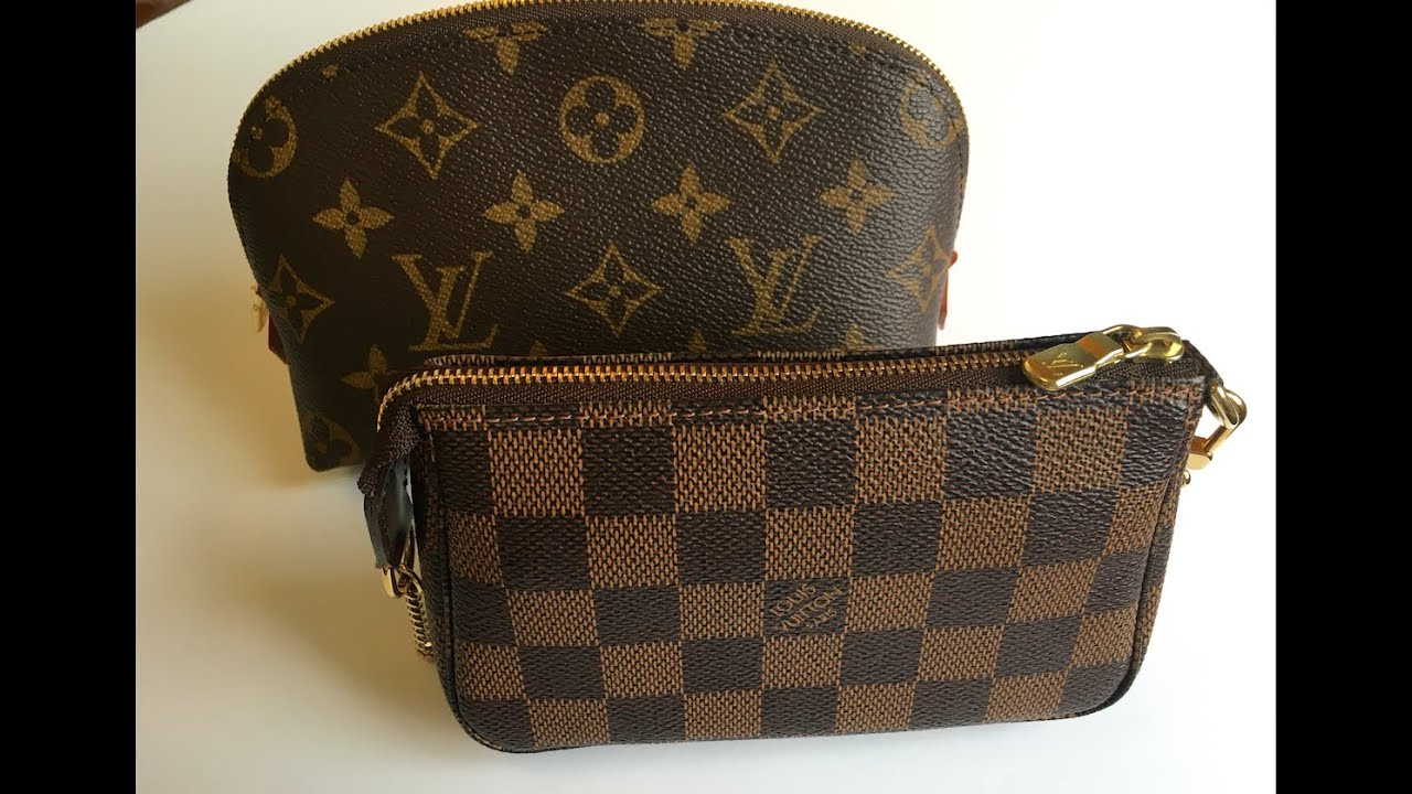 ed9580fdc0bd Louis Vuitton Cosmetic Pouch vs Mini Pochette (Comparison) - YouTube