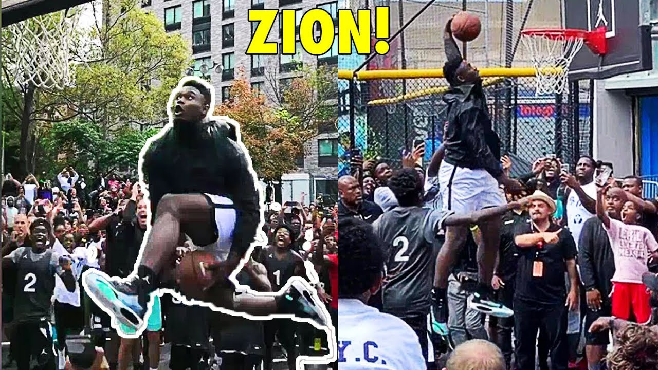 Zion Williamson Between The Legs Dunk At Nike Air Jordan 34