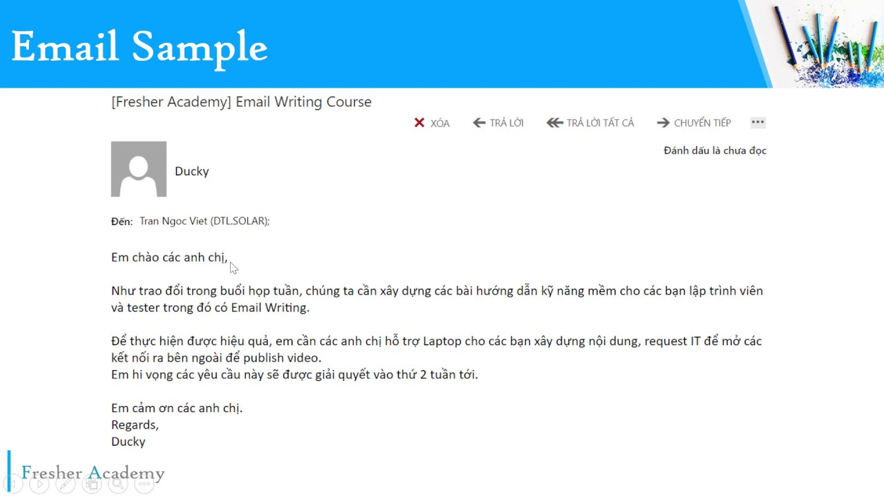 17 email sample youtube