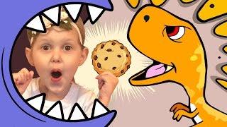 Челлендж Отбери печенье у зубастика Вызов принят Challenge