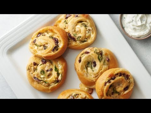 Greek Chicken Crescent Roll-Ups | Pillsbury Recipe