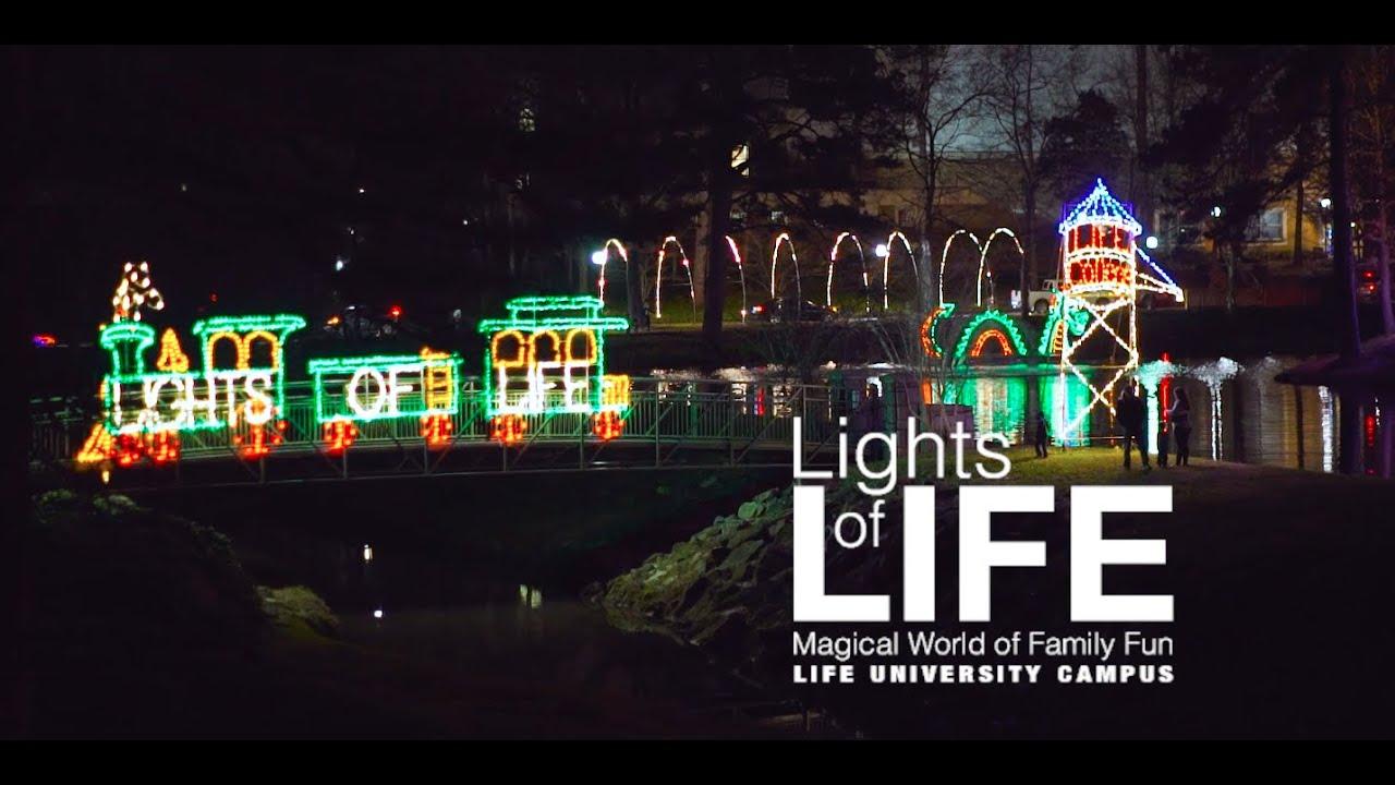 Life University Christmas Lights 2020 Lights of LIFE at Life University   YouTube