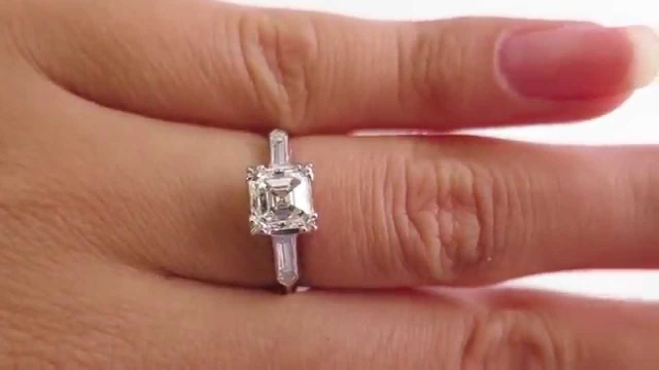 Asscher Engagement Ring Youtube