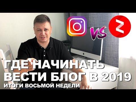 Где начинать вести блог в 2019 году в Инстаграм или Яндекс Дзен? Итоги 8 недели Яндекс Дзен марафона