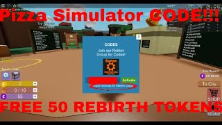 Pizza Simulator - CODE (ROBLOX) 50 RIBRITH TOKENS GRATUIT