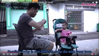 Dad Feeding Baby Daughter Porridge When Mom Busy   ỐC Family