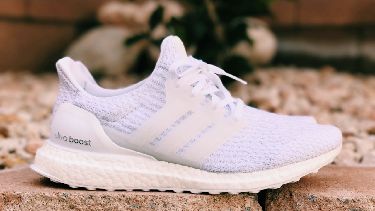 adidas ultra boost 3 0 triple white unboxing review. Black Bedroom Furniture Sets. Home Design Ideas