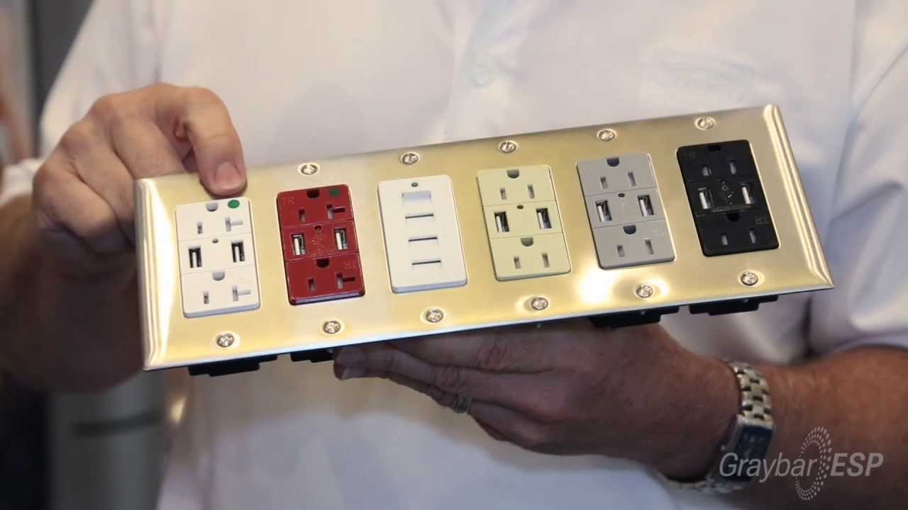 Usb Charging Receptacle From Hubbell Wiring Device-kellems  Graybar Esp