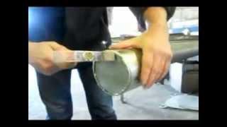 Заглушка на трубу из оцинкованной стали(Один из способов заглушки воздуховода, трубы из тонколистового металла., 2013-06-19T13:12:03.000Z)