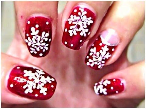 Elegant Snowflake Nail Tutorial Using a Dotting Tool