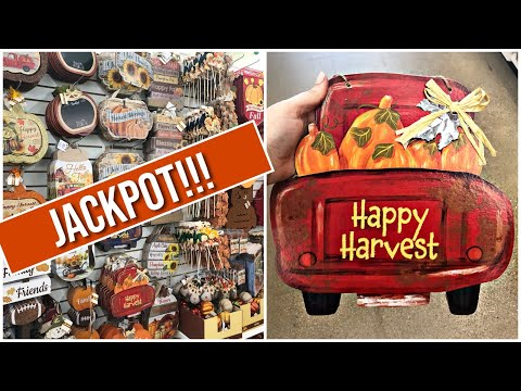 Dollar Tree FALL DECOR Jackpot! I found it all! | Shop With Me