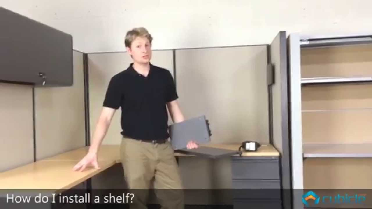 How To Install A Cubicle Shelf Youtube
