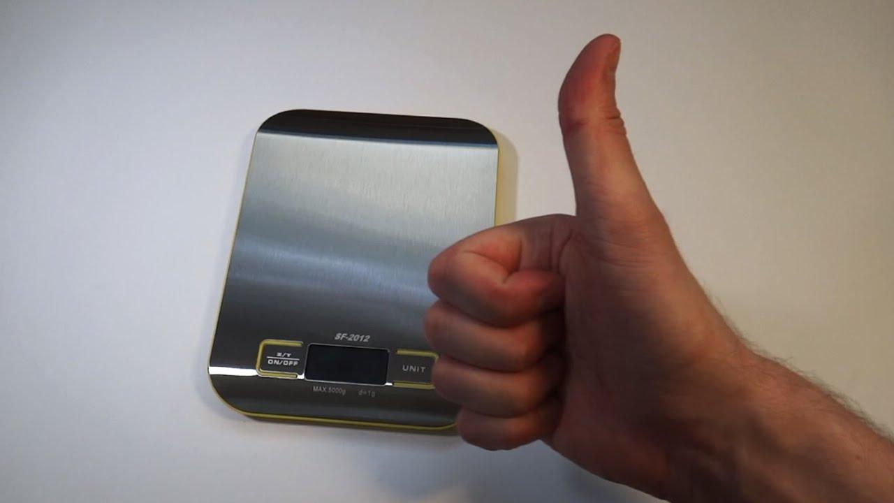 Электронные кухонные весы SF 2012 из Китая с Aliexpress - YouTube