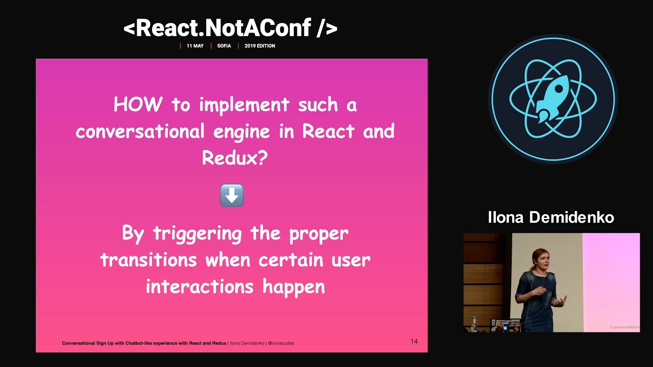 Conversational sign up with chatbot-like experience with React and Redux -  Ilona Demidenko