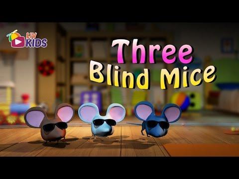 Three Blind Mice with Lyrics | LIV Kids Nursery Rhymes and Songs | HD