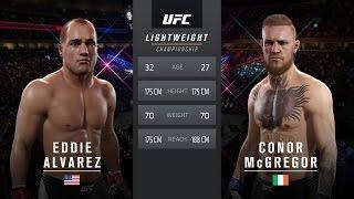 ufc 205 alvarez vs mcgregor lightweight title match cpu prediction