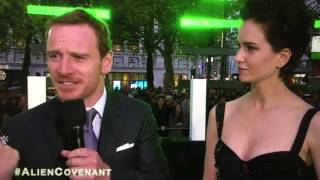 Michael Fassbender & Katherine Waterston at Alien Covenant Premiere