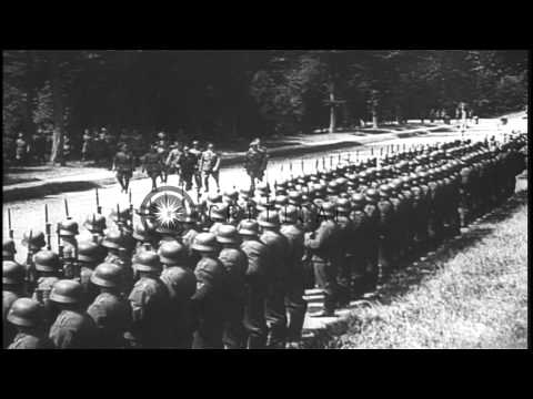 German troops in Paris,  Adolf Hitler at the Eiffel Tower and the French and the ...HD Stock Footage