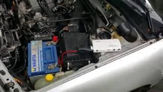 Тест пуско зарядного устройства Carcu Elite e-Power на Nissan Primera P11 GT