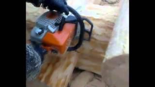 Как мы рубим деревянные дома: видео(Процесс рубки сруба на видео с пояснениями. Компания