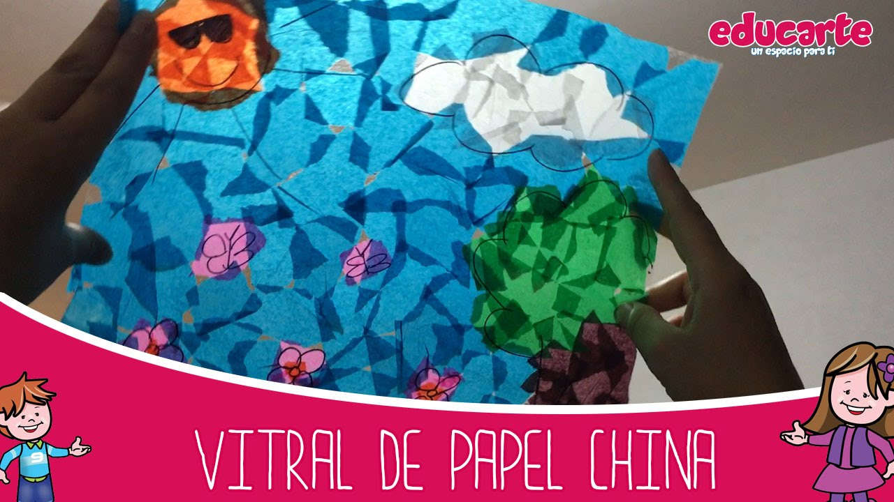 Manualidades para nios Vitral de papel china Ideas escolares