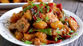 Perfect w Rice! Fragrant Spicy Chicken &amp Potatoes 干锅土豆香辣鸡 Chinese Stir Fry Chicken Recipe