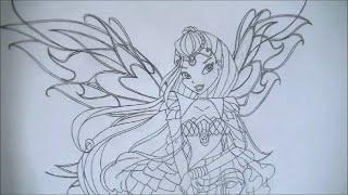 How to draw Bloom from Winx Club S6 (Bloomix)