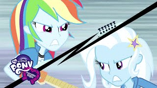 MLP: Equestria Girls: Rainbow Rocks - 'Guitar Centered' ft. Rainbow Dash & Trixie EXCLUSIVE Clip