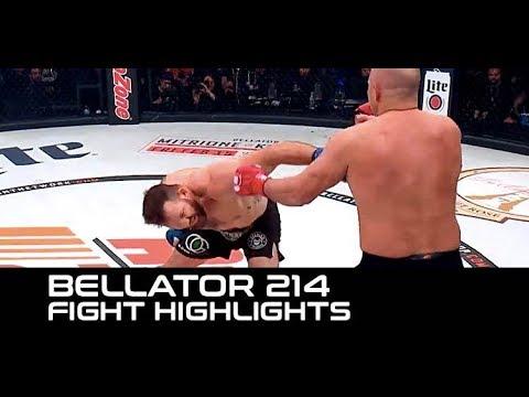 Ryan Bader Lays Out Fedor! (Bellator 214 Highlights)