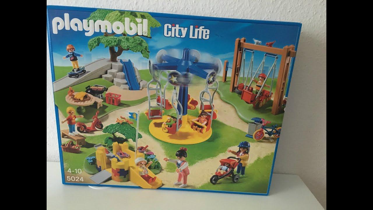 Playmobil Klettergerüst : Unboxing playmobil großer spielplatz mit viel zubehÖr youtube