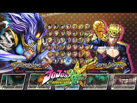 Jojo's Bizarre Adventure All Star Battle: All Characters with All DLC (Complete Roster) & Stages