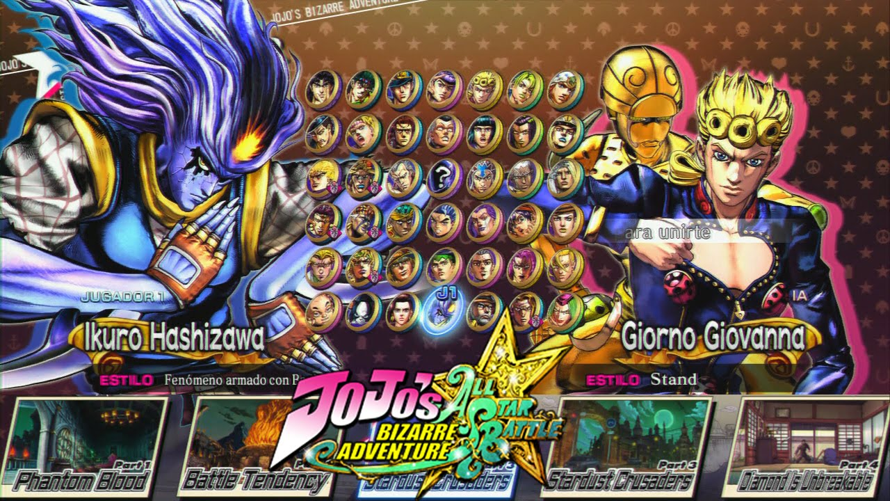 Jojos Bizarre Adventure All Star Battle All Characters With All