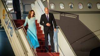 Duke & Duchess Of Cambridge Arrive In Islamabad Pakistan For Royal Tour 2019