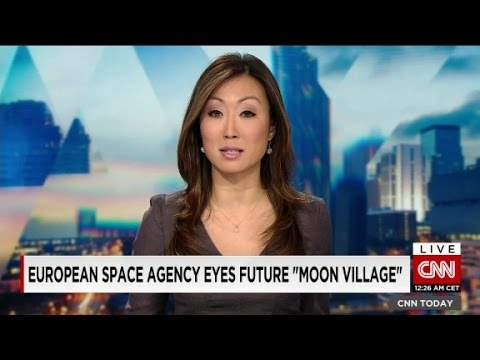 "European space agency eyes future ""moon village"""