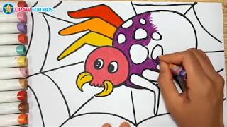 How To Draw A Spider    Draw For Kids