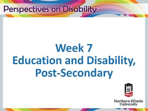 7-1 Education and Disability, Post-Secondary