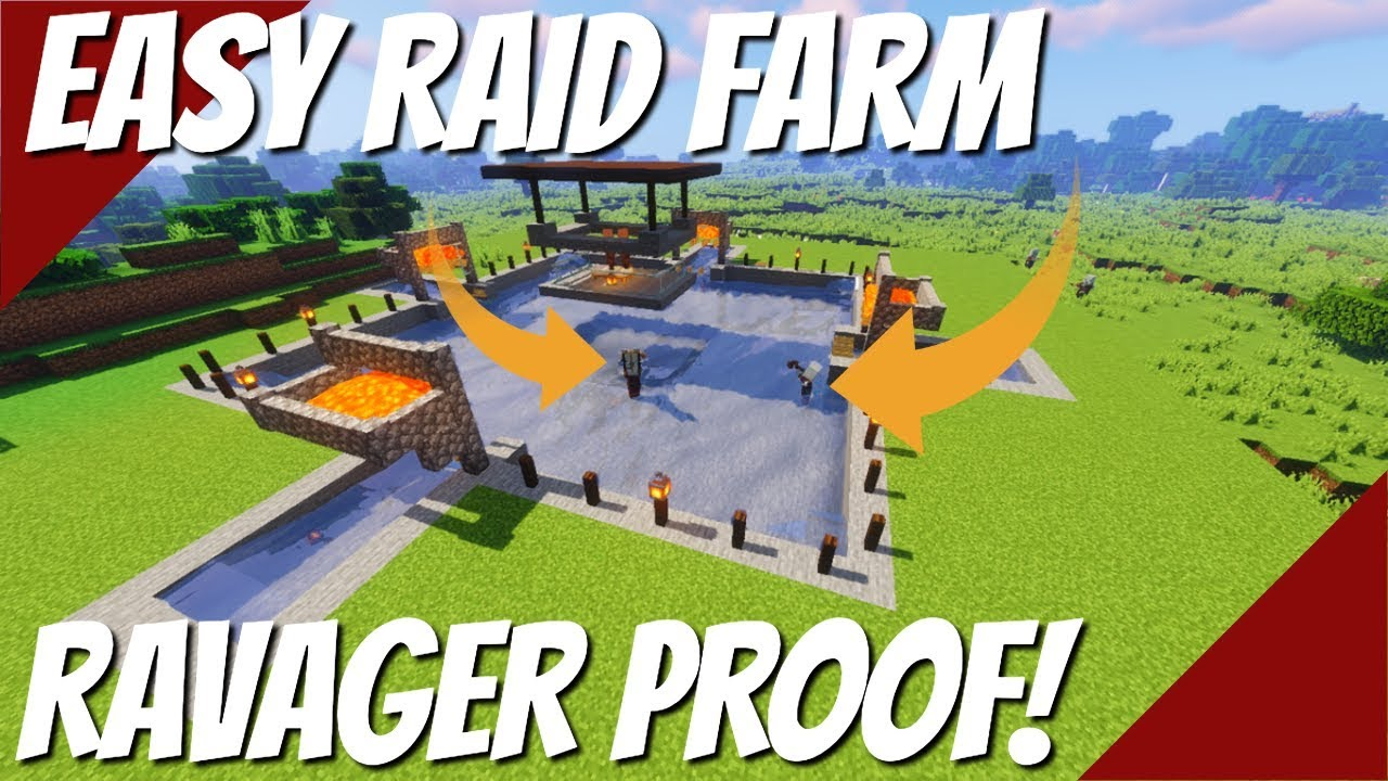 Minecraft Raid Farm: Easiest Raid Farm: Emeralds, Totems, Crossbows & XP Farm (Avomance 2019)