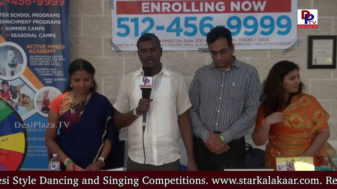 Representative of Mathnasium,Austin speaks to DesiplazaTV at TCA Austin Ugadi Celebrations - 2018