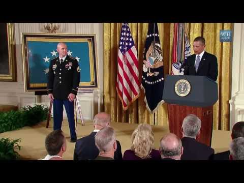 President Obama Awards the Medal of Honor to Soldier who 'sucked at being a civilian'