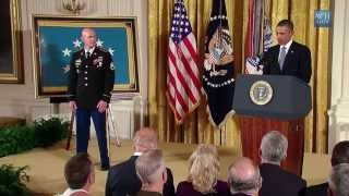 President Obama Awards the Medal of Honor to Soldier who