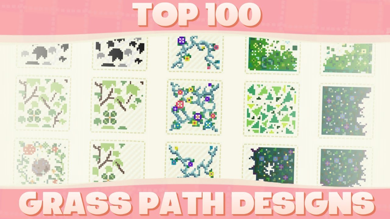 Top 100 Custom Grass Path Designs For Animal Crossing New Horizons Youtube