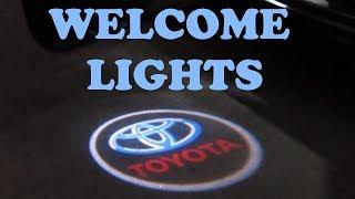 Door Welcome Logo Lights Installation