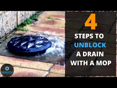 How to Sort Out Blocked Drain With a Mop. QUICK AND EASY